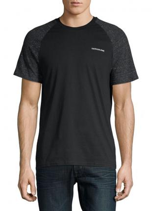Черная футболка calvin klein jeans