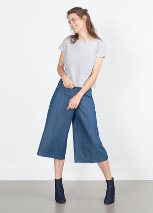 Базовые итальянские джинсовые кюлоты calzedonia6 фото