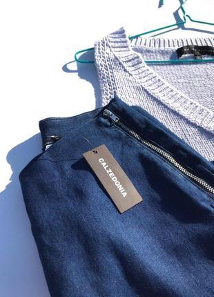 Базовые итальянские джинсовые кюлоты calzedonia3 фото