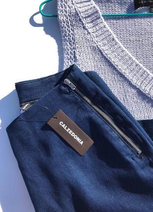 Базовые итальянские джинсовые кюлоты calzedonia5 фото