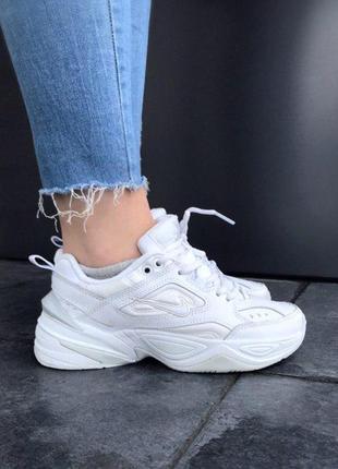 Шикарные женские кроссовки nike m2k tekno white 😍 (весна/ лето/ осень)