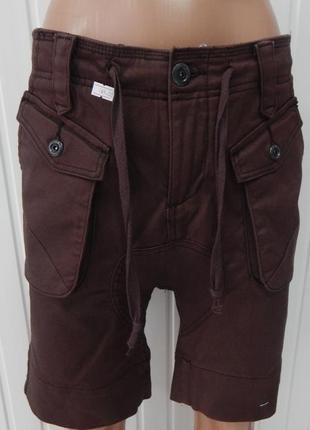 Мужские стильные джинсовые шорты zuiki р.m коричневые
