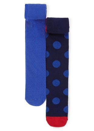 Набор синих колготочек 6-7,7-8,9-10 лет 2 шт в упаковочке