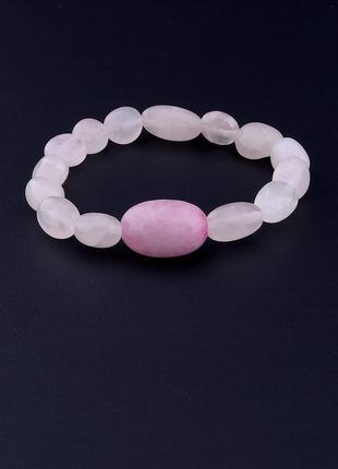 Браслет 'sunstones' розовый кварц 18 см. 0698260