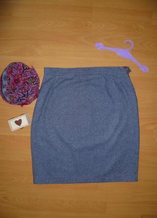 Юбка прямая, миди, имитация джинса,спідниця під джинс
