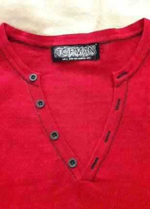 Шерстяной мериносовый свитер р 42-44
