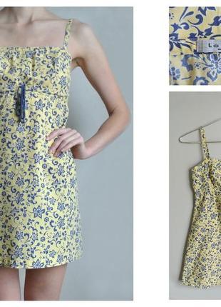 Платье плаття мини цветочный принт
