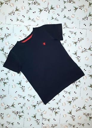 Акция 1+1=3 базовая темно-синяя футболка next на мальчика 6 лет, премиум коллекция