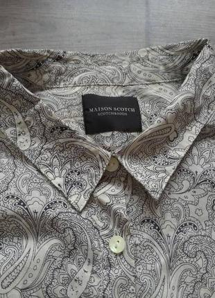 Блузка сорочка рубашка maison scotch. оригинал