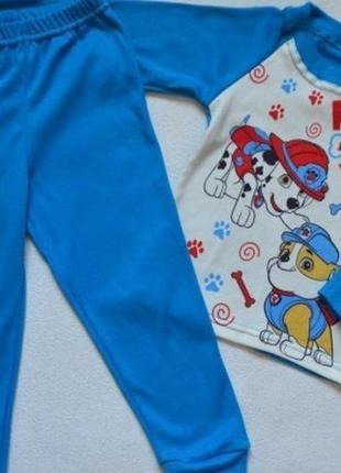 """Детская пижама """"щенячий патруль"""" без начеса"""