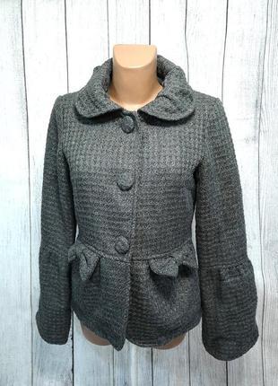 Пальто весеннее серое, стильное only, poly-acryl, как новое!