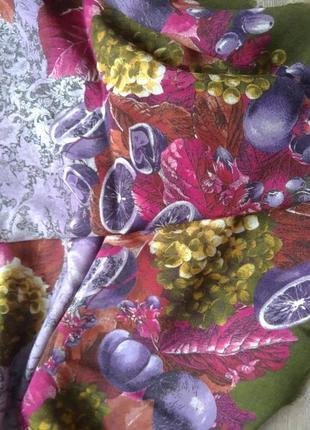 100% шерсть. огромный итальянский красивый платок hermes loro pian. оригиналa