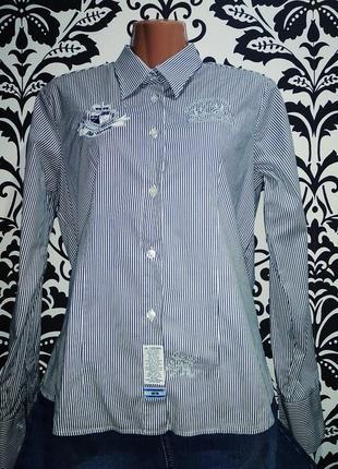 Мега крутая базовая офисная рубашка  в полоску