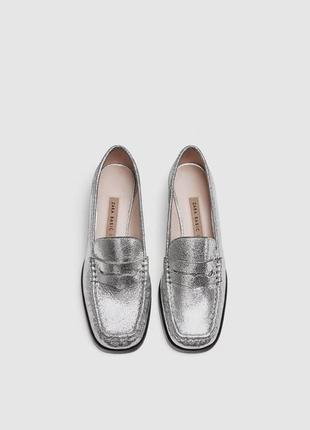Кожаные туфли zara2 фото