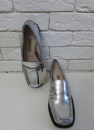 Кожаные туфли zara4 фото