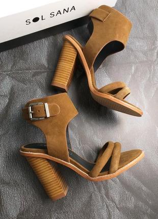 Sol sana оригинал коричневые дизайнерские замшевые босоножки бренд из сша