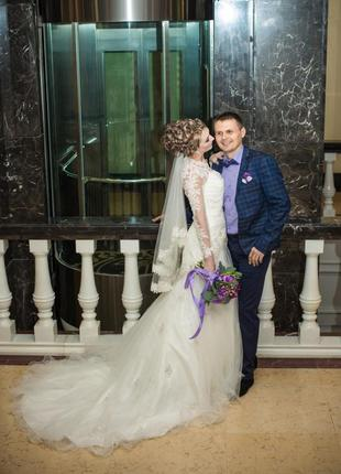 Сказочное шикарное свадебнре платье s.5 фото