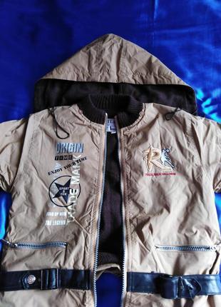 Непромокаемая курточка с капюшоном qilang весна осень 5-6 лет.