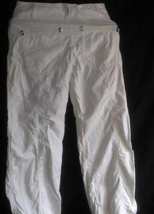 Классные нарядные  летние белые коттоновые брюки
