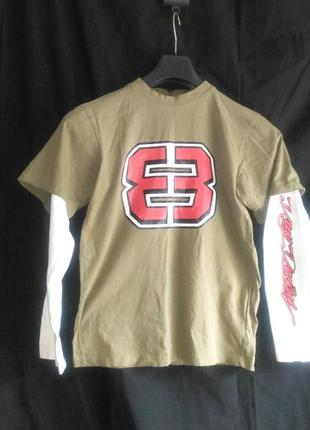 Очень классная фирменная футболка с длинным рукавом (made in bangladesh)