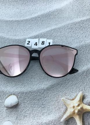 Солнцезащитные очки цвет линз-розовый  к. 2481