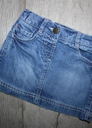 Джинсовая юбка f&f 2-3 года, рост 92-98 см.