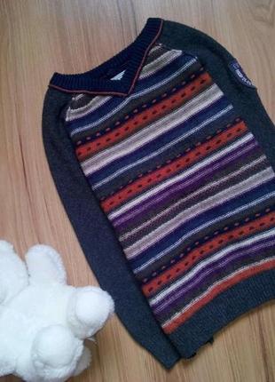 Нарядный теплый свитерок от next на 3-4 года