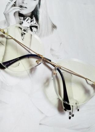 Солнцезащитные очки авиаторы капли с градиентом
