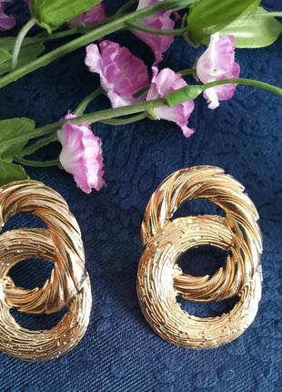 Серьги сережки золото в стиле зара zara