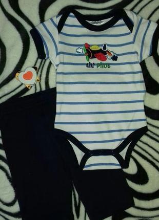 Летний комплект бодик штанишки