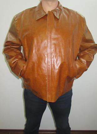 Куртка новая натуральная кожа размер хл турция
