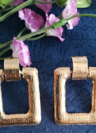 Серьги в стиле zara зара сережки золото