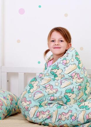 Полуторное постельное белье с единорогами в наличии