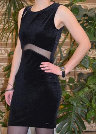Вечірнє бархатне мини плаття top secret