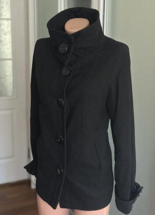 Чёрное пальто zara3 фото