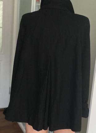 Чёрное пальто zara5 фото