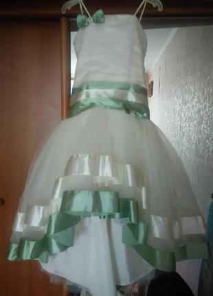 Стильное вечернее платье, на выпускной в сад, бальное платье, спереди короткое