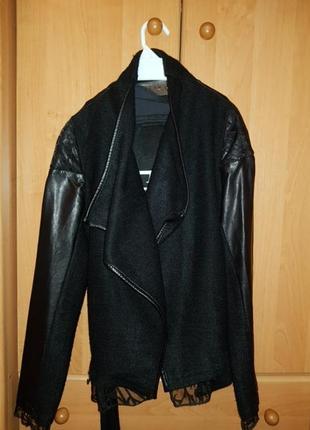 Пиджак под кожу женский