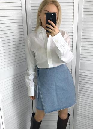 Денімова юбка на запах