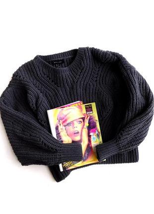 Шенилловый свитер оверсайз  обьемной вязки от new look