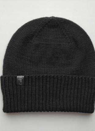 Мужская шапка из итальянской 100% мериносовой шерсти