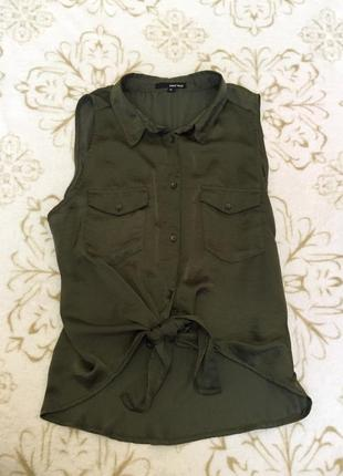 Блуза цвета хаки tally weijl