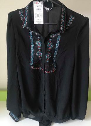 Блузка боди с вышивкой