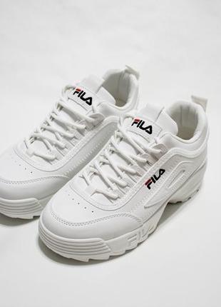Женские белые кроссовки (кеды, крипперы) на толстой подошве