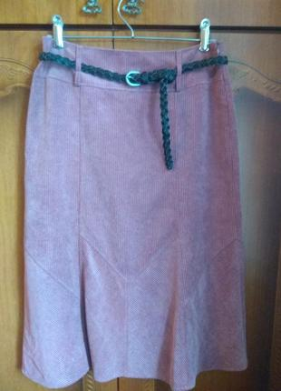 Пыльно розовыя юбка