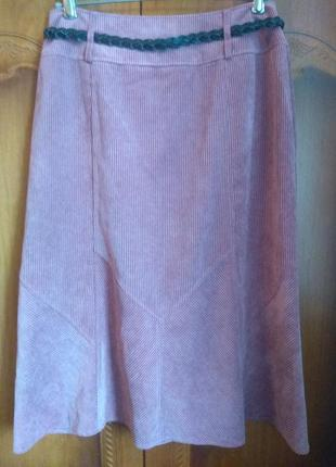 Пыльно розовыя юбка3 фото