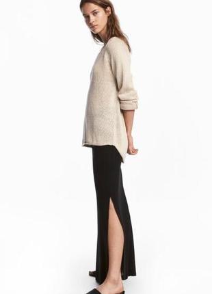 Отличная длинная юбка из джерси от h&m basic, p. l