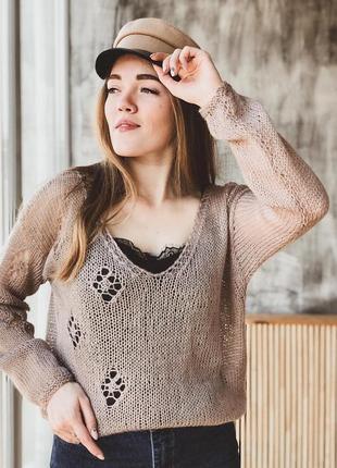 Пуловер легкий весенний.