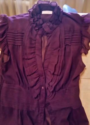 Очаровательная  ,полупрозрачная ,летняя блузка