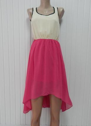 Красивое легкое платье-сарафан с открытой спиной р.s/м